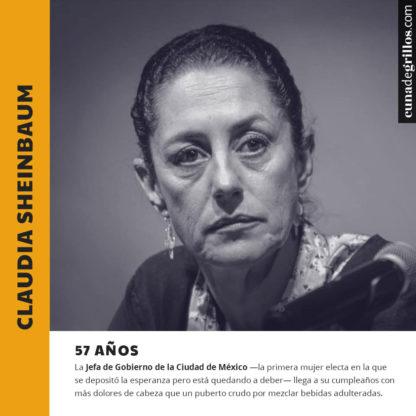 Claudia Sheinbaum por su cumpleaños