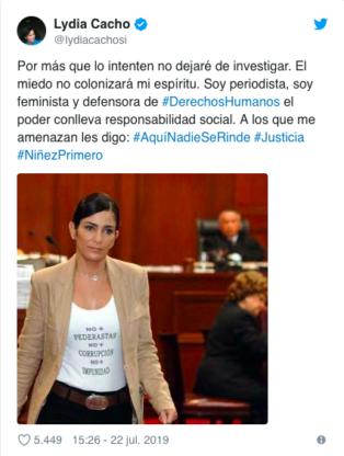 Asilo politico Lydia Cacho