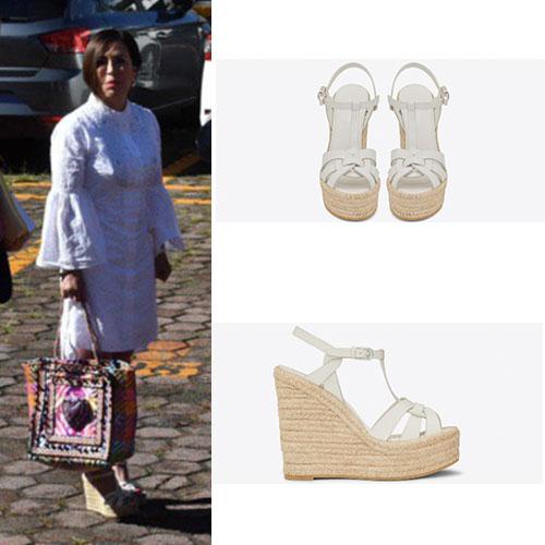 La colección de zapatos YSL de Rosario Robles