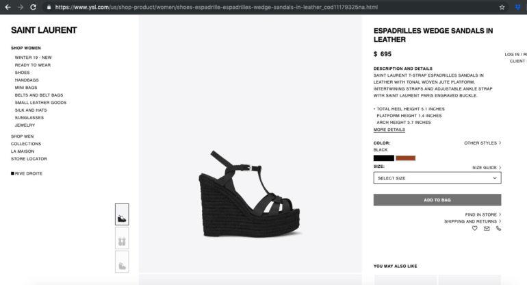 zapatos YSL de Rosario Robles