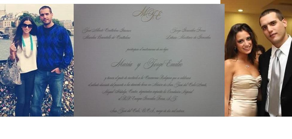 La invitación de la boda del Niño Verde [Boda Jorge Emilio & María]