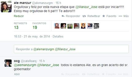 ¿Quién felicitó a Manzur Quiroga por su nuevo cargo?