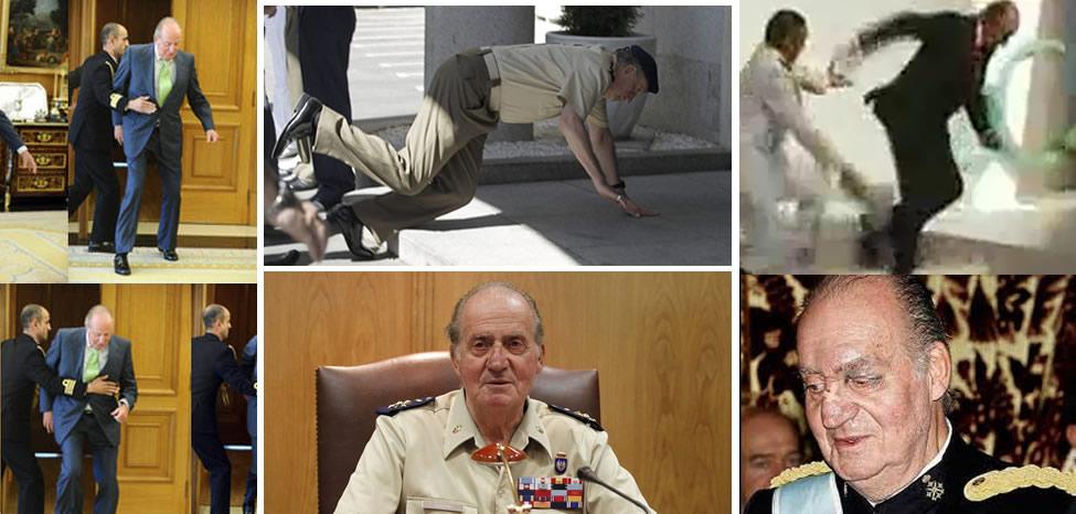 Las caídas del rey Juan Carlos [VIDEOS]