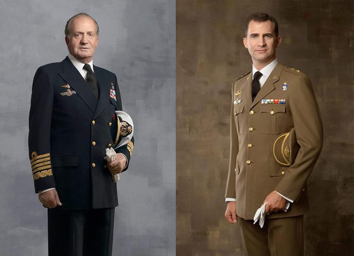 Los antes y ahora del Rey de España