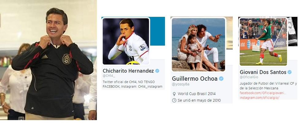 Los futbolistas a los que sigue Peña Nieto