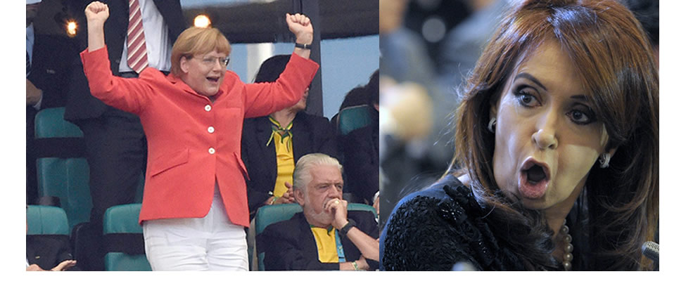 Angela Merkel le gana a Cristina Kirchner