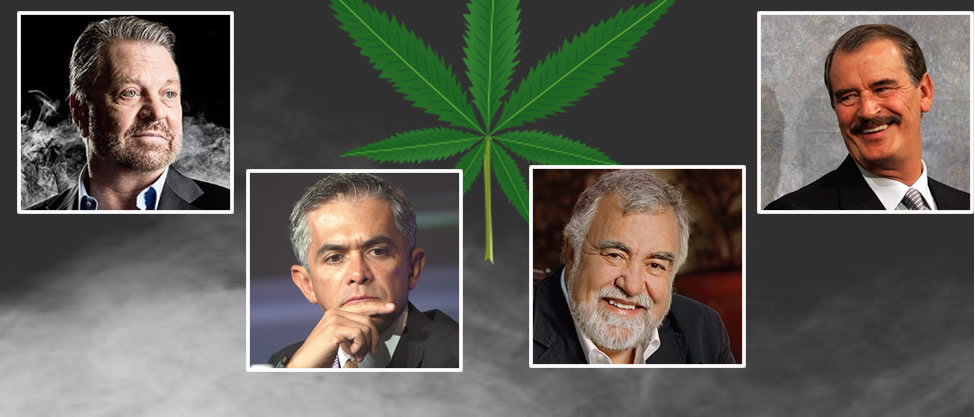 Políticos en pro de la marihuana