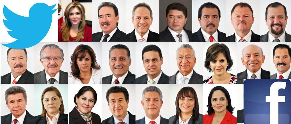 Senadores del PRI en redes sociales