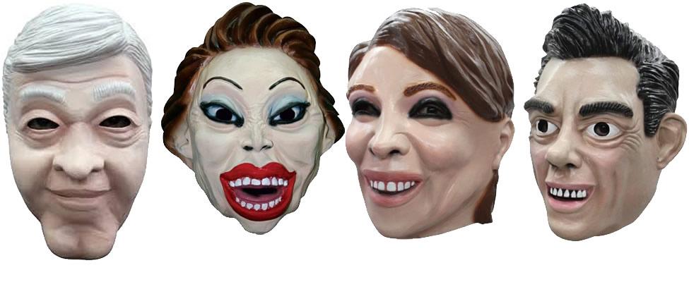 10 máscaras de políticos para Hallowen