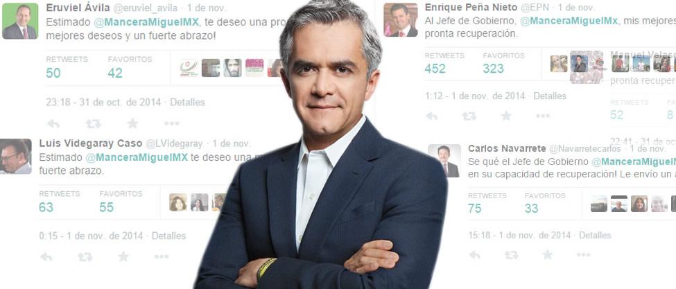 Políticos le echan porras a Miguel Ángel Mancera