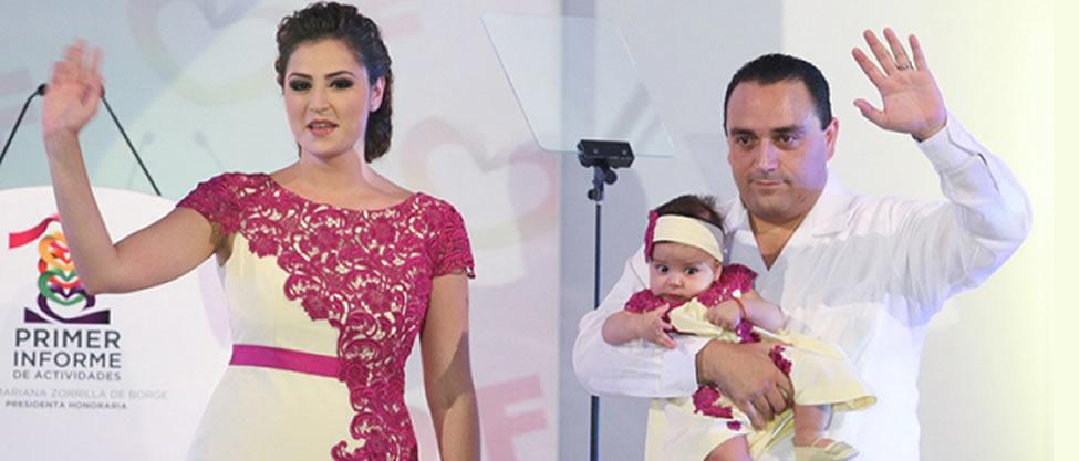 Nace hija del gobernador de Quintana Roo