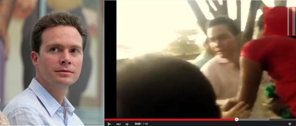 [VIDEO] Manuel Velasco cachetea a un hombre