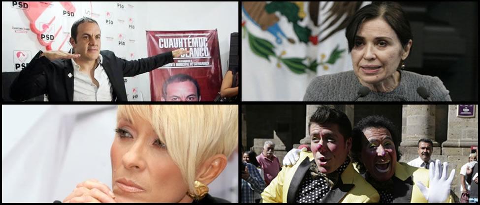 Camacho, Yuri, María Rojo y Cuauhtémoc Blanco se van a la política