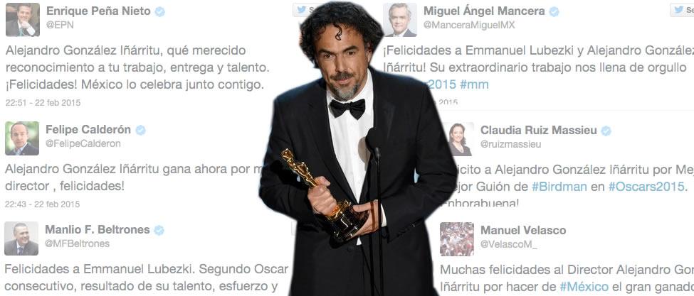 Los tuits políticos de los Oscar 2015