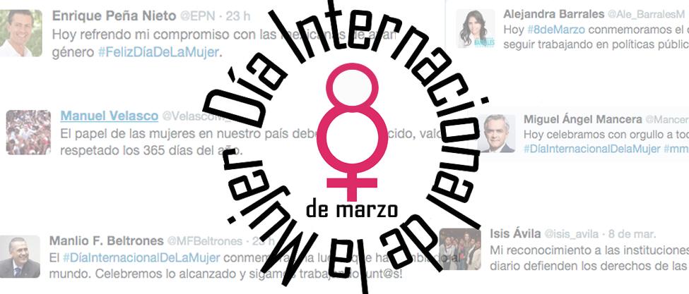 ¿Qué tuitearon los políticos del Día de la Mujer?