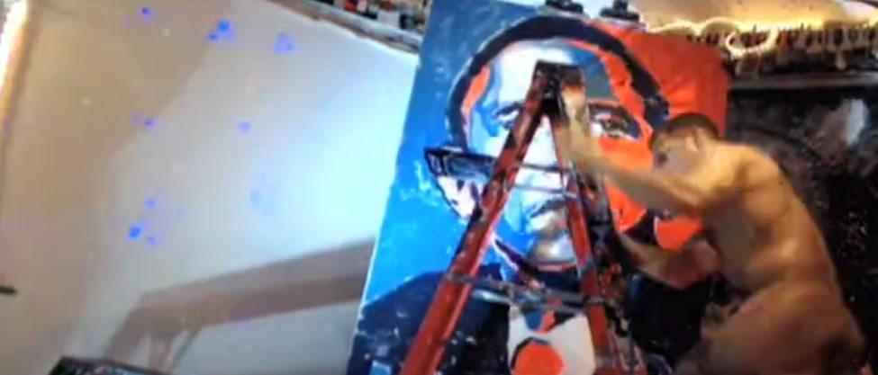 """El pintor de """"brocha gorda"""" de Barack Obama"""