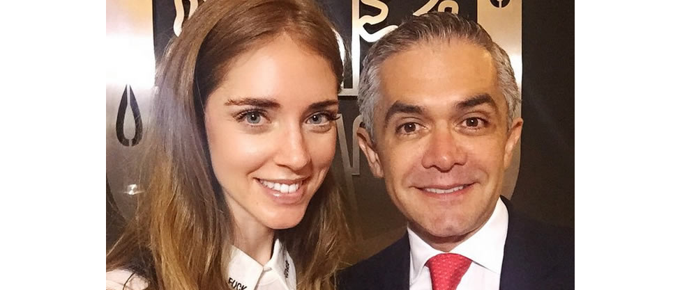 Miguel Ángel Mancera recibe a la blogger Chiara Ferragni