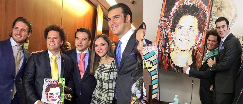 Políticos consienten al artista pop Romero Britto