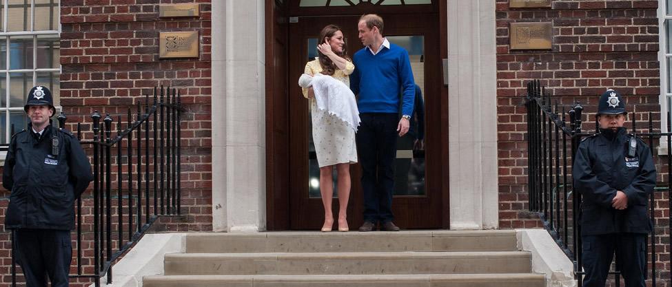 Nace la hija del príncipe Guillermo y Kate Middleton
