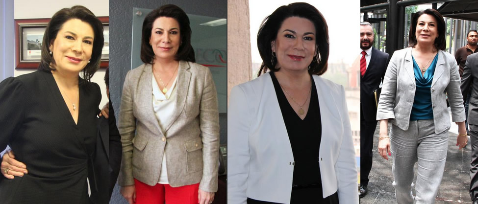 Los outfits de Lorena Martínez rumbo a Aguascalientes