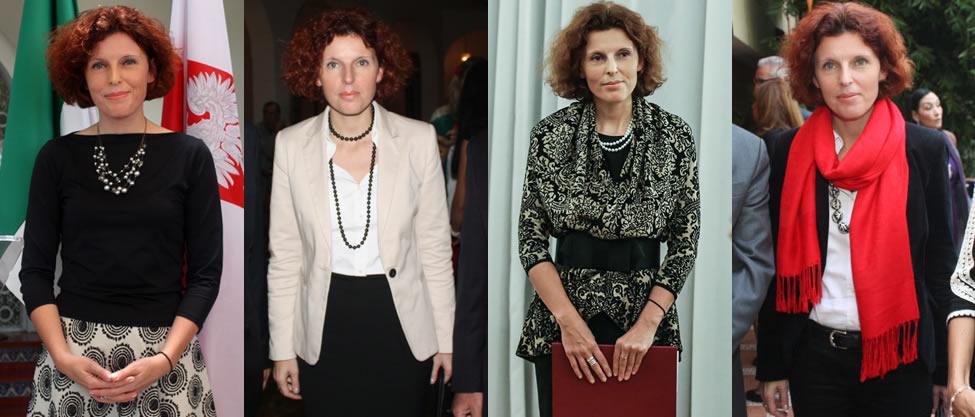 Así viste la embajadora de Polonia, Beata Wojna