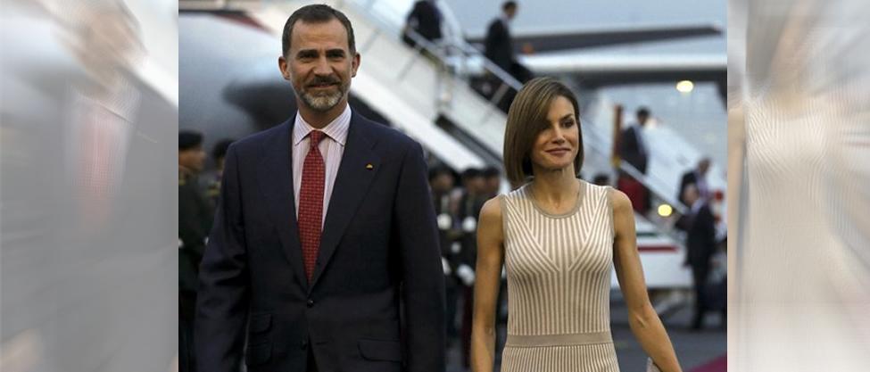 Ya llegaron a México Felipe y Letizia de España