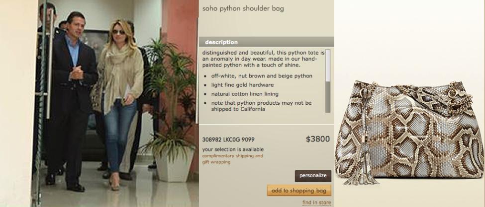 Angélica Rivera y su costosa bolsa Gucci