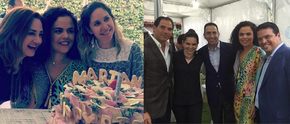 Así festejó Mariana Gómez del Campo su cumpleaños