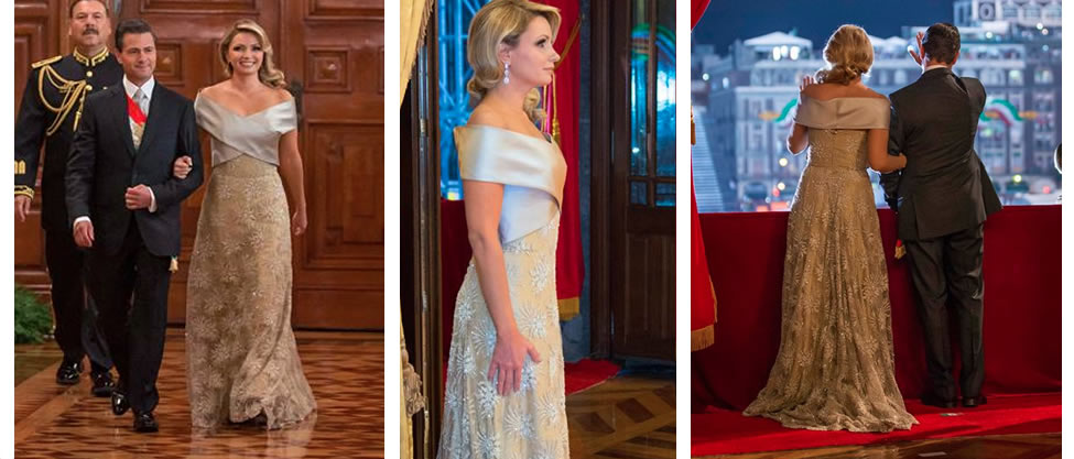 Quién diseñó el vestido de Angélica Rivera para el Grito