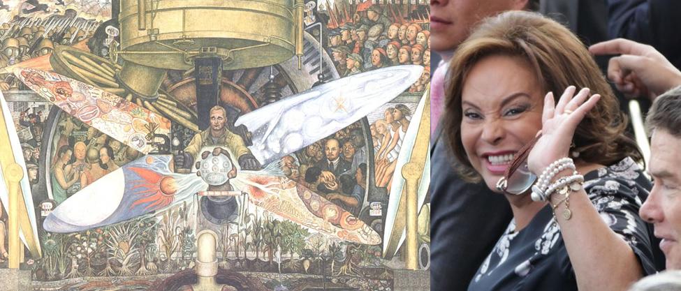 Las millonarias obras de arte de Elba Esther