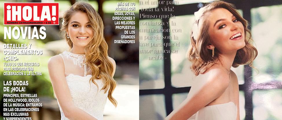 Sofía Castro se pone vestido de novia