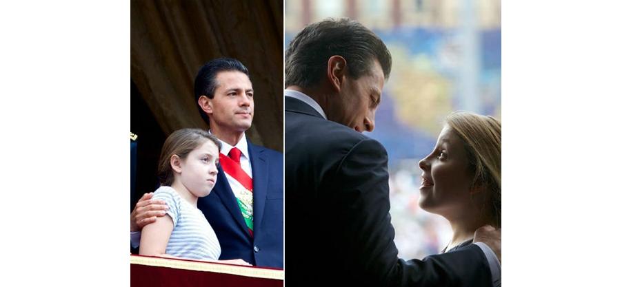 Enrique felicita a la más pequeña de Los Pinos