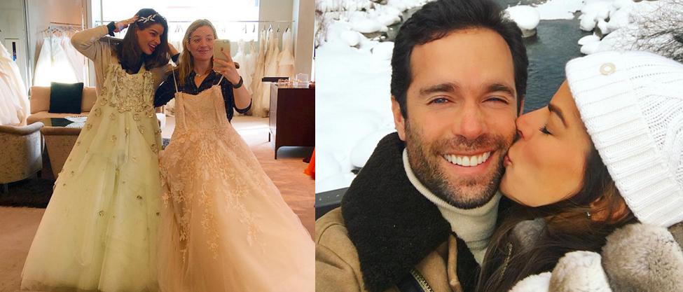 Bárbara Coppel busca su vestido de novia