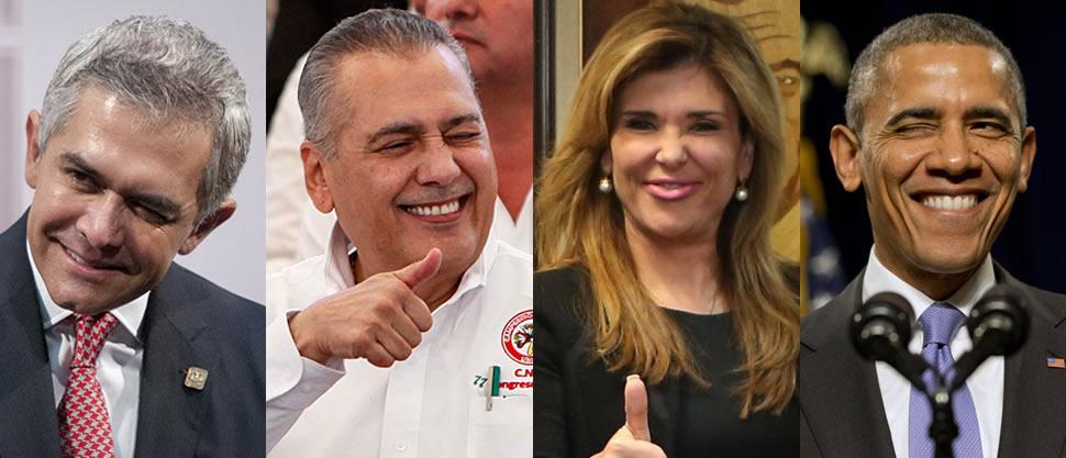 Políticos festejan el 14 de febrero