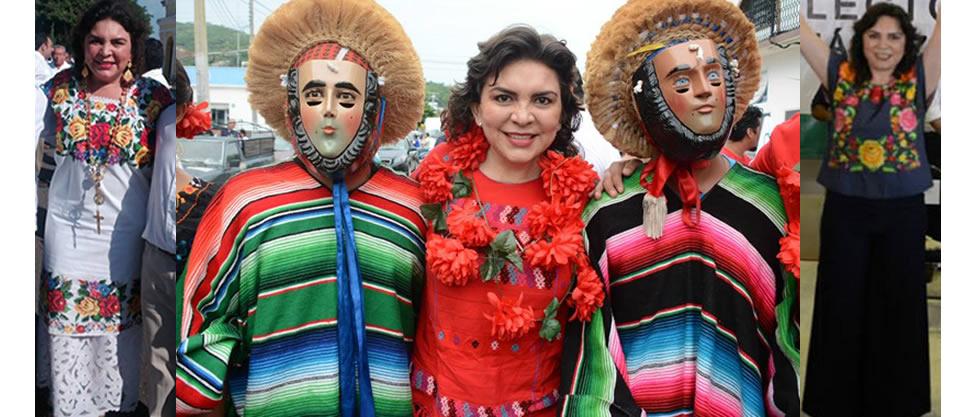 Los trajes típicos de Ivonne Ortega