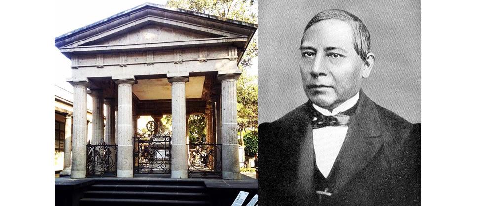 ¿Dónde están los restos de Benito Juárez?