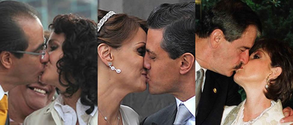 Así se dan sus besotes los políticos